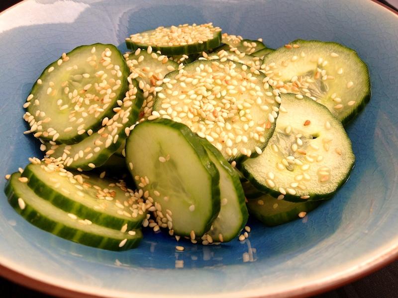 Kev's Kitchen » Blog Archive » Cucumber Sesame Salad