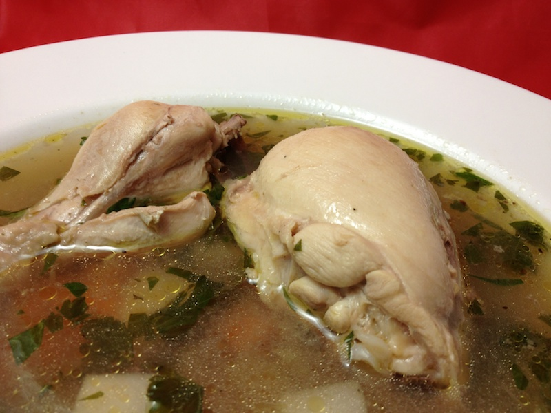 chicken soup from whole chicken