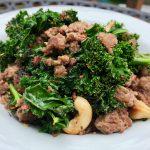 Kale, Pork & Cashews